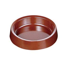 メラミンカラー灰皿 丸(茶)