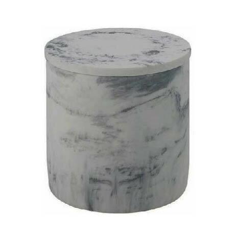 ナパ ラウンドボックス 大理石風樹脂