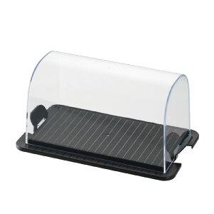 カッティングボード付きケーキフード(ブラック)