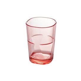スクエアタンブラー(ピンク)260ml PCT樹脂製
