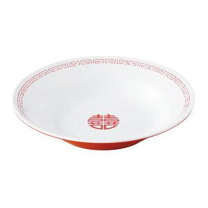 瑞祥 新形冷麺皿 白/赤