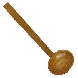 鍋用塗りレンゲ(穴なし) 19cm 木の杓子