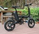 折りたたみ 電動アシスト自転車 16インチ 電動自転車 シマノ製6段変速機 ミニベロ 通勤 通学 便利 おすすめ