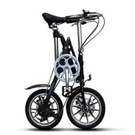 折りたたみ 自転車 14インチ 小径車 ミニベロ シマノ7段変速 通勤 通学 便利 おすすめ|軽量 コンパクト 子供用 超軽量 前後泥除け かわいい 街乗り じてんしゃ 本体 シマノ shimano 軽快車 シティサイクル 折畳 送料無料 サイクリング アウトドア スポーツ メンズ レディース
