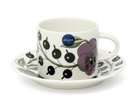 アラビア パラティッシパープル コーヒーカップ&ソーサー 100366/100367 【耐熱 電子レンジ対応 ギフト 結婚祝い プレゼント 贈り物】