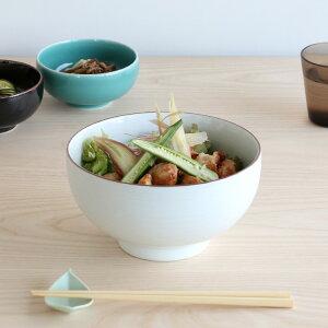 白山陶器 白磁千段 6寸深めん丼 18.5cm 【丼 丼ぶり うどん 日本製】