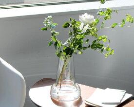 ホルムガード フローラ ベース 24cm ロング クリア Holmegaard Flora vase 【花瓶 マウスブロウ(手吹き) フラワーベース ギフト】