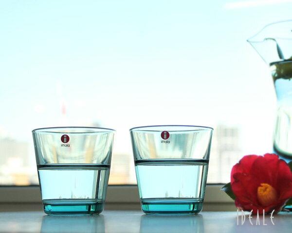 イッタラ カルティオ グラス 2個セット 210ml シーブルー / iittala 箱入り ペア ブルー タンブラー 950535【おしゃれ 北欧食器】【グラス セット】