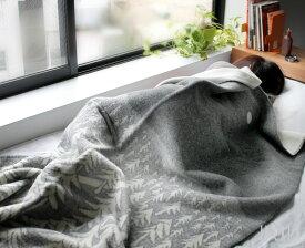 クリッパン(KLIPPAN)×ミナ ペルホネン(mina perhonen) 225101 ウールシングルブランケット ハウスインザフォレスト 130×180cm グレー(グレイ) 【毛布】【あす楽対応】【ラッキーシール対応】