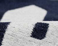 クリッパン×ミナペルホネンサンヴィレッジコットンブランケット(シュニール織り)シングル140×180cmネイビーKLIPPAN×minaperhonenSunVillage255403【毛布】【あす楽対応】