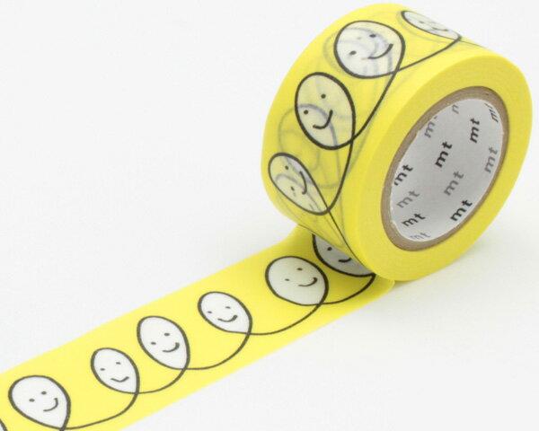 マスキングテープ mt ミナ ペルホネン smile・yellow MTMINA09【ラッキーシール対応】