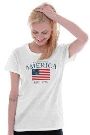 出血!5の付く日クーポン発行中 アメリカン プライド レディス Tシャツ USA フラッグ 国旗 American Pride Ladies T Shirt United States Of America Flag USA