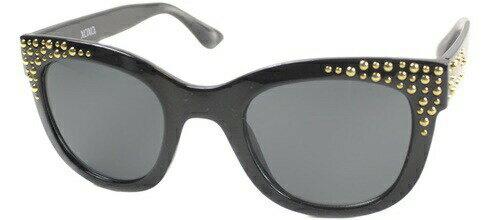 【エントリーで5倍:30日23:59まで】XOXO キスキス おしゃれな ブラックアンドゴールド キャッツアイ サングラス CatEye Sunglasses レディース