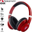 ナカミチ EDGE ELSA ワイヤレス ヘッドホン Bluetooth レッド Nakamichi USA EDGE AI-Enhanced Wireless Headphones