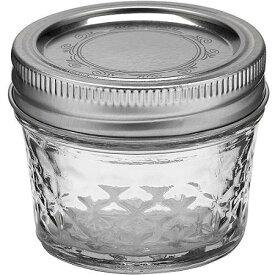 5%オフクーポン発行中 ボール メイソンジャー レギュラーマウス 保存容器 ガラス クリアクリスタル ゼリー ジャー (1個) Ball Mason Jar 4oz 120ml Made In USA 人気 輸入 キッチン 雑貨 おうち ステイホーム