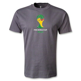 出血!5の付く日クーポン発行中 ワールドカップ日本応援 メンズ 2014 ワールドカップブラジル FIFA オフィシャルエンブレム Tシャツ ダークグレイ