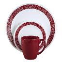 コレール Corelle 輸入 海外 食器セット 人気 リビングウェア ガラス 16-ピース ディナーウェア セット 4x4セット Bandhani