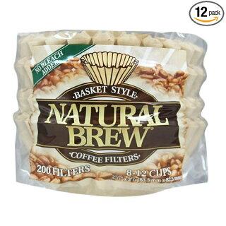 コーヒーフィルターNaturalBrewバスケットタイプ8-12カップ