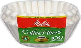 【ブラックフライデイ・クーポン発行中】メリタ コーヒーフィルター 4/6カップ用 バスケットタイプ 200枚 ホワイト