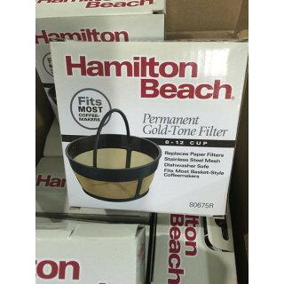 パーマネントコーヒーフィルターハミルトンビーチバスケットスタイル12カップ紙フィルターいらずで経済的