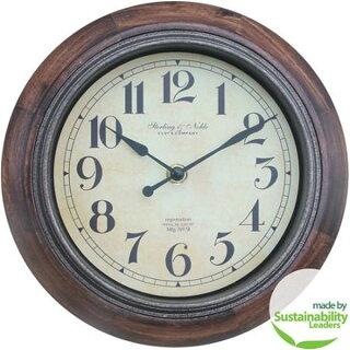 素朴なアンティーク風木製フレーム時計