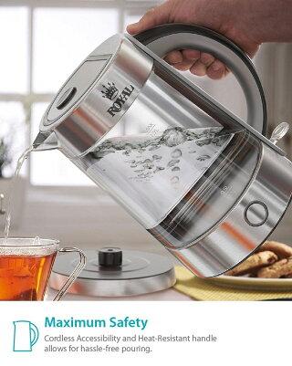ガラスケトル湯沸かしポット1.7L