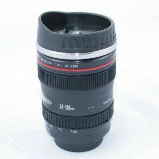 カメラレンズ保温レンズ型マグカップブラック人気グッズ