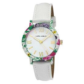 出血!5の付く日クーポン発行中 レディースウオッチ ローラアシュレイ 腕時計 ホワイトバンド プレゼント Womens Laura Ashley? Fashion Watch LA31003WT