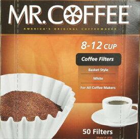 【5%オフクーポン発行中】コーヒーフィルター ミスターコーヒー 12カップ バスケットスタイル 50枚 ホワイト Made In USA