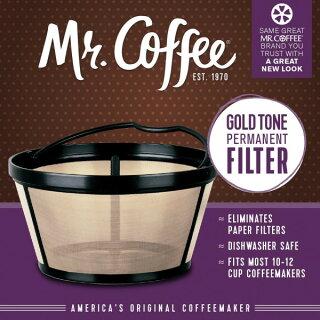 パーマネントコーヒーフィルターミスターコーヒーバスケットスタイル12カップGTF2-1紙フィルターいらずで経済的