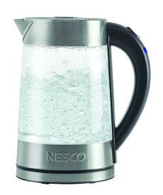 ネスコ Nesco GWK-02 1500w エレクトリック グラス ウオーターケトル 1.7L 電気ケトル