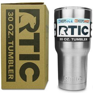 【引き続き5%オフクーポン発行中】水差し ジャグ 人気 RTIC 30oz タンブラー ステンレススチール 二重壁 真空断熱加工 24時間氷をキープ 持ち運び マグカップ 30 oz. RTIC Tumbler