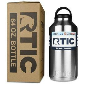 水差し ジャグ 大型 人気 RTIC 64oz ビッグサイズ ボトル ステンレススチール 二重壁 真空断熱加工 24時間氷をキープ 持ち運び Rtic Stainless Steel Bottle (64oz) おうち時間 ステイホーム