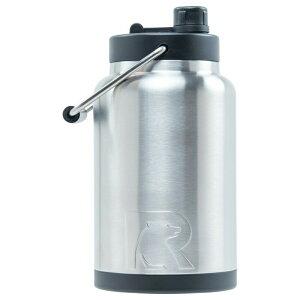【全商品5%OFFクーポン!】水差し ジャグ 大型 人気 RTIC 0.5ガロン ビッグサイズ ボトル ステンレススチール 二重壁 真空断熱加工 24時間氷をキープ 持ち運び マグカップ Rtic Stainless Steel Bottle (1