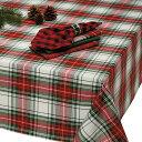 【今日だけ感謝の10%OFFクーポン!】テーブルクロス デザインインポート DII クリスマスチェック 152cmx213cm 100% コットン Christmas…
