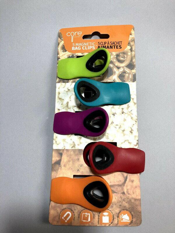 多用途に使えるマグネットクリップ キッチンクリップ バッグクリップ Magnetic Chip Clips, Assorted Colors 5個セット