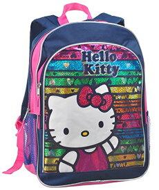 キッズ 手提げ リュックサック 子供用 おしゃれ ブランド 人気 女の子 ハローキティ Hello Kittyレインボーに輝く バックパック ミッドナイトブルー USA直輸入品