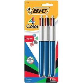 出血!5の付く日クーポン発行中 ビック USA 4カラー ボールペン 3本 ミディアムポイント1mm 4色 BIC USA 4-Color Ball Pen Medium Point 1.0mm レッド ブルー ブラック グリーン おうち時間 ステイホーム