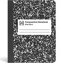 【前倒し:15%OFFクーポン発行中】アメリカで定番のノートブック Staples ブラックマーブル コンポジションブック ノート ワイドルール …