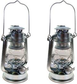 5%オフクーポン発行中 小型 ハリケーン オイルランタン 2個セット ランタン シルバー アウトドア キャンプ Silver Hurricane Kerosene Oil Lantern Emergency Hanging Light / Lamp 8インチ O-6972 地震 停電対策 停電 災害 おしゃれ