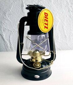 デイツ 76 ランタン オリジナル オイルランタン オイルランプ ゴールドトリム 10インチ ハリケーンオイルランタン アウトドア キャンプ Dietz #76 Original Oil Burning Lantern (Black with Gold Trim ) 地震 停電対策 停電 災害 おしゃれ
