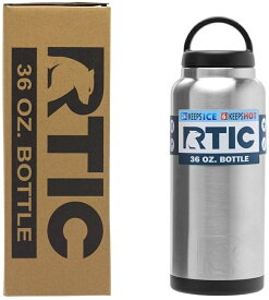 水差し ジャグ 人気 RTIC ボトル ステンレススチール 二重壁 真空断熱加工 24時間氷をキープ 持ち運び Rtic Stainless Steel Bottle (36oz) おうち時間 ステイホーム