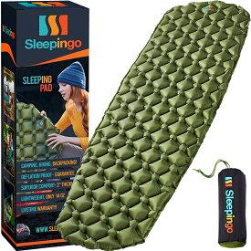 Sleepingo キャンプ用 スリーピングパッド 軽量 コンパクト 410g ハイキング用 エアマットレス インフレータブル