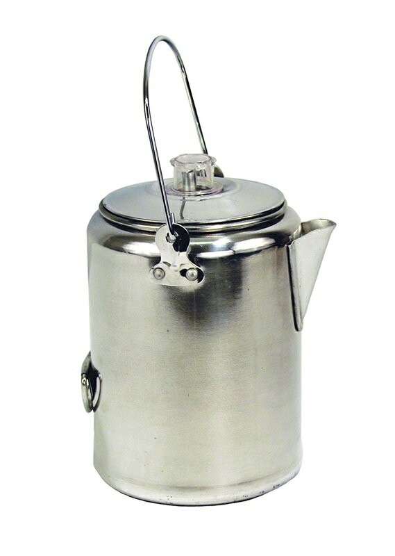 Texsport コーヒーメーカー 20カップ アルミニューム パーコレーター コーヒー沸かし Aluminum 20 Cup Percolator Coffee Maker for Outdoor Camping