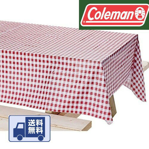 コールマン ピクニック テーブルクロス ギンガムチェック キャンプやバーベキュー お店でも Coleman 2000003430 Vinyl Table Cloth