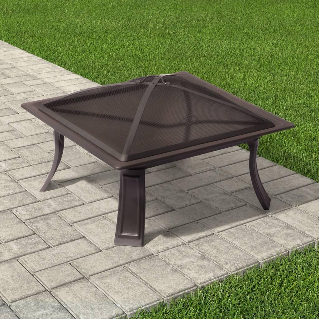Threshold ファイアーピット ファイアーボウル バーベキューコンロ・焚火台 ポータブルファイアーピット(囲炉裏) 折り畳み 焚き火セット Threshold Square Folding Steel Fire Bowl 68cm