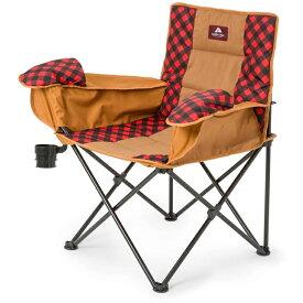 【25日は10%OFFクーポン!】オザークトレイル コールドウエザー チェアー 海に山に 寒さ対策に最適 椅子 チェアー ブラック・レッドのチェック模様 おうち時間 ステイホーム【バレンタイン】