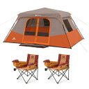 チェアー2台付き 8人用 オザクトレイル インスタント キャビン テント 大型テント Ozark Trail 8 Person Instant Cabin Tent