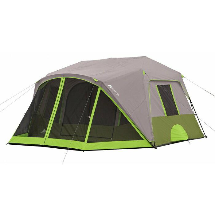 オザークトレイル テント 9人用 インスタント キャビンテント スクリーンルーム付き Ozark Trail 9 Person 2 Room Instant Cabin Tent with Screen Room