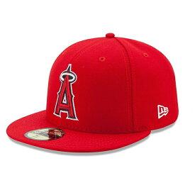 【金・土曜日セール !15%OFFクーポン!】MLB ロサンゼルス エンジェルス ニューエラ 59FIFTY キャップ 野球帽 Los Angeles Angels of Anaheim New Era Authentic On-Field 59FIFTY Fitted Cap